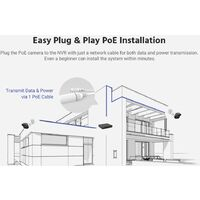 ANNKE 5MP PoE IP ONVIF Bullet Security Camera System 6MP NVR 100 ft Color Night Vision for Outdoor Indoor Home CCTV Video Surveillance Kit 4 Cameras - No HDD