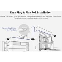 ANNKE 5MP PoE IP ONVIF Bullet Security Camera System 6MP NVR 100 ft Color Night Vision for Outdoor Indoor Home CCTV Video Surveillance Kit 8 Cameras - No HDD