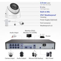 ANNKE 8MP 4K HD PoE ONVIF NVR Security Camera System with H.265+ Coding 4K Wired HD CCTV Kit For Home Outdoor Indoor 4 Cameras – 1TB HDD