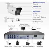 ANNKE 8MP 4K HD PoE ONVIF NVR Security Camera System with H.265+ Coding 4K Wired HD Videosurvelliance CCTV Kits For Home Outdoor Indoor 8 Cameras – 2TB HDD