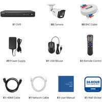 ANNKE 5MP Super HD True Full Color Night Vision Security Camera For Outdoor Indoor CCTV Surveillance Kits 8 Cameras - No HDD