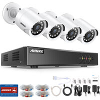 ANNKE 8CH 5MP CCTV DVR Recorder with 4x HD Outdoor Bullet Cameras Security System - NO HDD