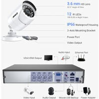 ANNKE 8CH 5MP CCTV DVR Recorder with 8x HD Outdoor Bullet Cameras Security System - NO HDD