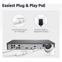 ANNKE 5MP PoE Security Camera System with ONVIF IP Turret Cameras 8CH 4K NVR Color Night Vision Mic for Outdoor Indoor CCTV Kits 4 Cameras – 2TB HDD