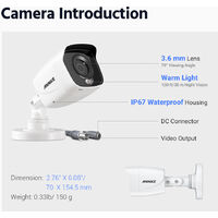 ANNKE 16 Channel 4K Wired Ultra HD DVR CCTV Security Camera System with 4K Color Night Vision ONVIF for Outdoor Indoor VideoSurveillance Kits 8 Cameras - No HDD