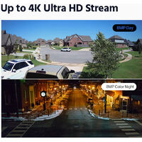 ANNKE 16 Channel 4K Wired Ultra HD DVR CCTV Security Camera System with 4K Color Night Vision ONVIF for Outdoor Indoor VideoSurveillance Kits 12 Cameras - No HDD