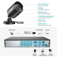 ANNKE 8CH 5MP DVR Home Security Syetem 4Pcs 2MP Security Weatherproof Bullet Cameras – NO Hard Drive Disk