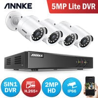 ANNKE 8CH 5MP 5 in 1 Security System DVR 4Pcs 2MP Home Security Waterproof Cameras - NO Hard Drive Disk