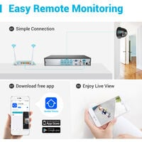 ANNKE 8CH 5MP Security System DVR 2Pcs 2MP Weatherproof Home Security Camera - NO Hard Drive Disk
