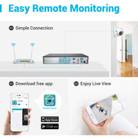 ANNKE 5MP 8CH CCTV DVR 4Pcs 2MP Home Security System Camera - NO Hard Drive Disk