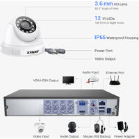 2MP HD Video Security 8 CH System with 8Pcs Dome camera – 0TB Hard Drive Disk