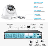 5MP HD Video Security 16 CH System with 16Pcs Dome camera – 2TB Hard Drive Disk