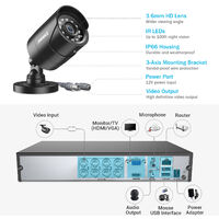 ANNKE CCTV Camera Systems 8 Channel 5MP H.264+ DVR and 4*1080P FHD Weatherproof HD Bullet Cameras – No Hard Drive