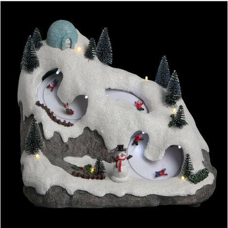 Feeric Christmas - Village de Noël lumineux et musical Piste de Luge animée