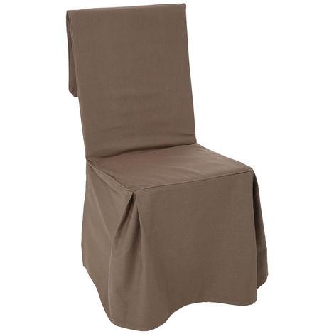 Atmosphera - Housse de chaise taupe