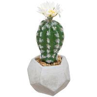 Atmosphera - Plante artificielle Cactus en pot H 19 cm