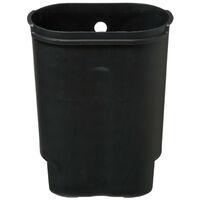Five - Poubelle de salle de bain 6 litres en Inox ouverture à pédale