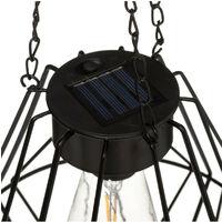 Atmosphera - Suspension Solaire en Métal Noir H 24 cm + Chaines 40 cm