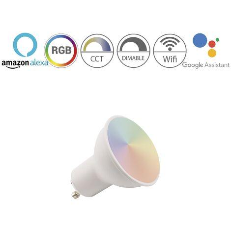 Bombilla inteligente RGB dicroica GU10 5W 450Lm Wifi