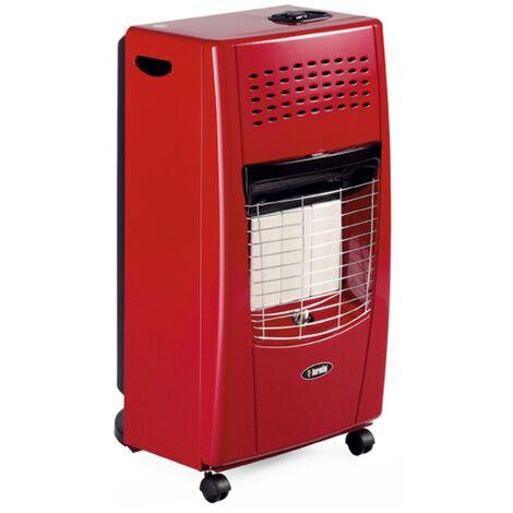 Estufa gas butano infrarrojos bella roja