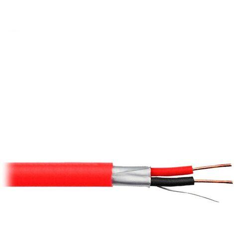 Cable para detector de incendios 2x1.5mm2 apantallado - Rojo