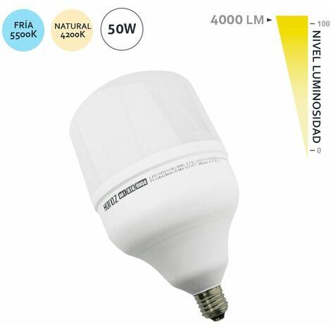 Bombilla LED Alumbrado Público E27 50W Natural 4200K  - Natural 4200K