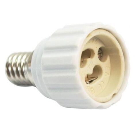 Adaptador lamparas GU10 a E14