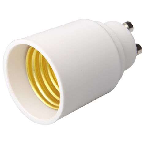 Adaptador lamparas GU10 a E27 - Blanco