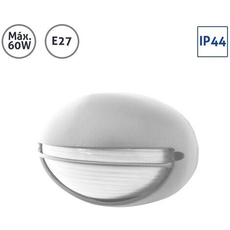 Plafón exterior ovalado con visera plata 60W E27 - Plata