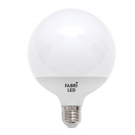 Bombilla globo con luz amarilla 22w E27 Fabriled - Blanco