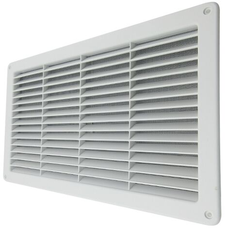 125 mm de di/ámetro color blanco Rejilla de ventilaci/ón redonda con protecci/ón contra insectos