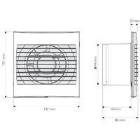 Extractor de baño Silent Vacuum V-1 - Blanco