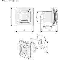 Extractor de baño silent dual 100 - Blanco