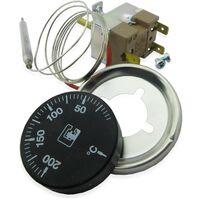 Kit termostatos regulación 0-200ºC freidora 1 metro