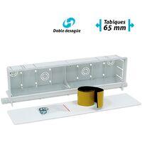 Caja de preinstalación de aire acondicionado con 2 salidas Climabox - Blanco