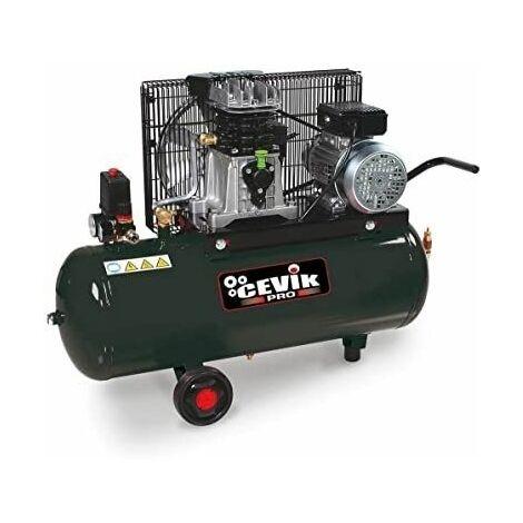 Compresor correa con ruedas Monofásico 100Lt. 3 HP 11Bar 230V CEVIX CA-AB100/3M