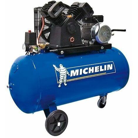 "Compresor 100 lt. - 3 HP- 10 BAR- 350 lt./min. Cabezal en ""V"" MICHELIN CA-VCX100"