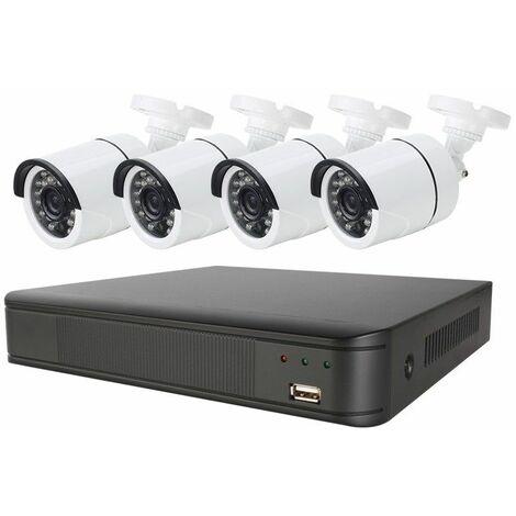 Sistema De Vigilancia CCTV Full HD 4 CAM ENERGEEKS EG-CCTV001PLUS