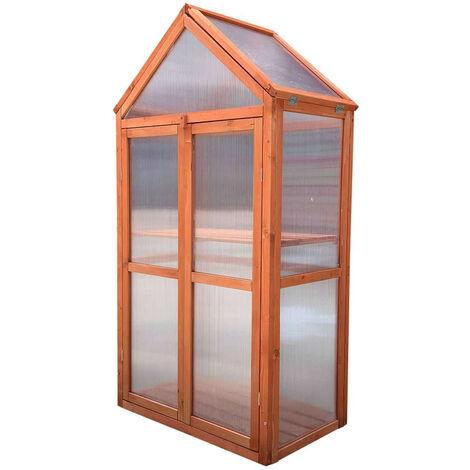 Gardiun Gewachshaus Wooden Iv 41 Cm X 70 Cm X 132 Cm Aus Holz Und Polycarbonat 8436038134622