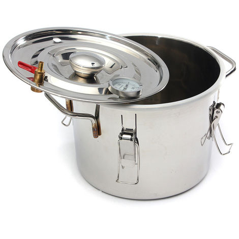 Alcohol Water Distiller Moonshine Copper Boiler 8 Gallons 35L Stainless With Thumper Barrel