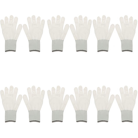 6 Pairs of Tinted White Cotton Gloves Application Application For Car Wrap Vinyl Sticker