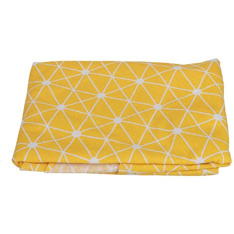 150CM Colorful Round Tablecloth Nordic Fabric Polyester Cotton Linen Household Garden Dining Tableware Round Tablecloth Plain Kitchen Yellow