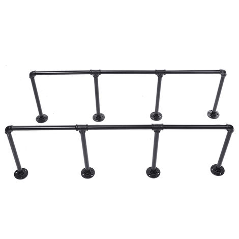 2pcs Scale Wall Shelf Pipe Vintage Industrial Floating Bookcase