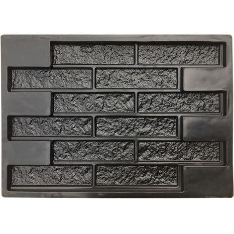 Concrete Molds Plaster Wall Stone Cement Tiles Brick DIY Garden Pavement