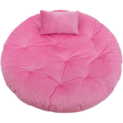 Chair Cushion Hanging Hammock Chair Velvet Cushion Swing Seat Cushion pink