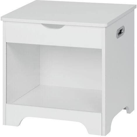 Laundry Box Toy Box Storage Basket Cabinet Chest 50X40X50cm White