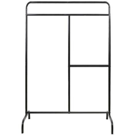 Metal Clothes Rail Hanging Rack Garment Display Stand Black
