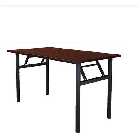 Folding Study Desk Coffee Table Computer Desk Wooden Laptop Black 100x50x74cm