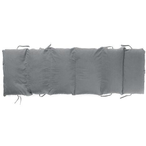 Removable Rattan Chair Folding Recliner Cushion 155x50x12cm Gray
