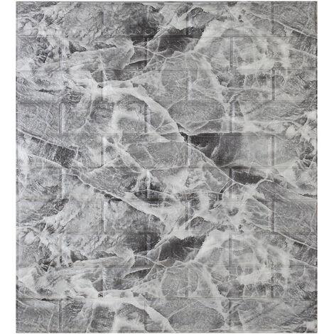 3D Tile Brick Wall Sticker Foam Panel Wallpaper Sticker 70x77CM Marble Black & White